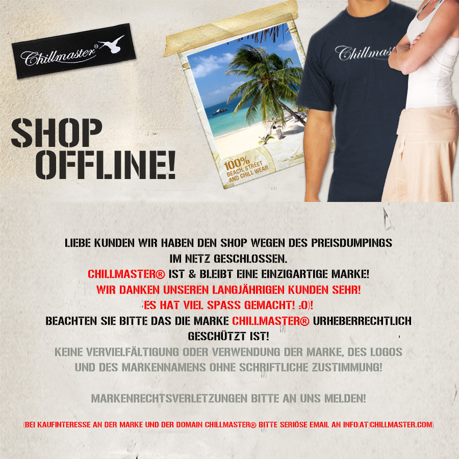 Chillmaster Shop offline!